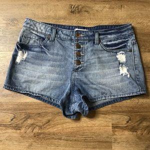 Forever 21 Jean Shorts Distressed Denim Size 28